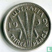 Australië 3 pence 1939