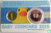 "Netherlands 1 cent 2015 (coincard - boy) ""Baby's eerste centje"""