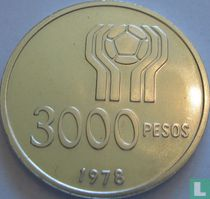 """Argentina 3000 pesos 1978 """"Football World Cup in Argentina"""""""