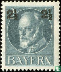Koning Ludwig III. van Beieren, met opdruk