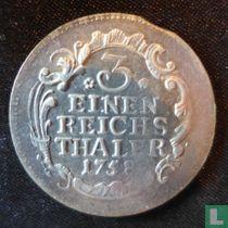 Pruisen 1/3 thaler 1758