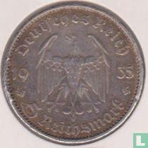 "Duitse Rijk 5 reichsmark 1935 (G) ""1st Anniversary of Nazi Rule - Potsdam Garrison Church"""