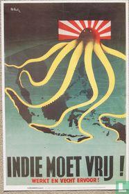 De oorlogskranten 41 Indie moet vrij! werkt en vecht ervoor!
