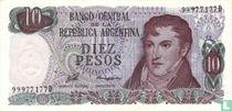 Argentinië 10 Pesos 1976
