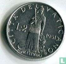 Vaticaan 2 lire 1951