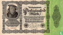 Reichsbanknote 50000 Mark 1922  5M.490465