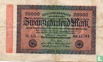 Reichsbanknote 20000 Mark 1923