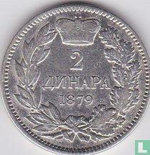 Servië 2 dinara 1879