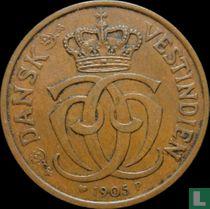Deens West-Indië 2 cents / 10 bit 1905