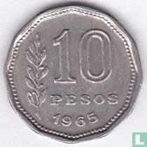 Argentinië 10 pesos 1965