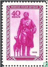 Mongol met hond