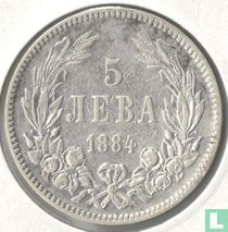 Bulgarije 5 leva 1884