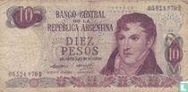 Argentinië 10 Pesos 1973