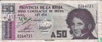 Argentinië Bocade 50 Australes 1986