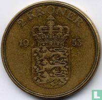 Denemarken 2 kroner 1953