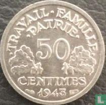 Frankreich 50 Centime 1943 (B)