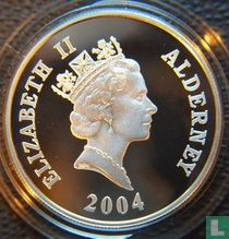 "Alderney 5 pounds 2004 (PROOF - silver) ""60th anniversary D-Day landings"""