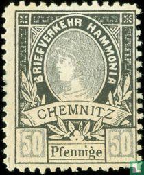 Briefbeförderung Hammonia - Frauenkopf-