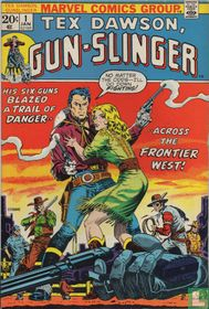 His six-guns blazed a trail of danger across the frontier west!