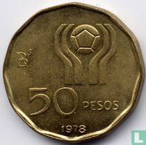 """Argentina 50 pesos 1978 """"Football World Cup in Argentina"""""""