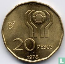 """Argentina 20 pesos 1978 """"Football World Cup in Argentina"""""""