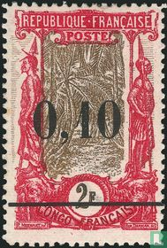 Coconut palms avenue, with overprint