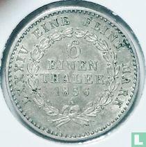 Anhalt-Bernburg 1/6 thaler 1856