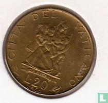 Vaticaan 20 lire 1960