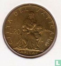 Vaticaan 20 lire 1965