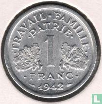 Frankreich 1 Franc 1942 (mit LB)