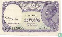 Egypte  5 Piastres  1940