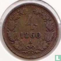 Austria 4 kreuzer 1860 (A)