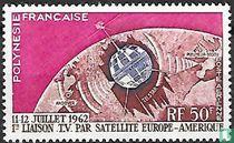 Eerste satelliet televisie koppeling