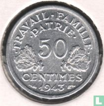 Frankreich 50 Centime 1943 (ohne B)