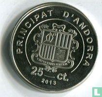 "Andorra 25 cèntims 2013 ""Mouflon"""