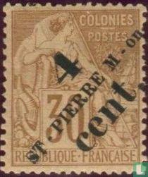 Type Dubois mit Aufdruck