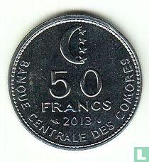 Comoren 50 francs 2013