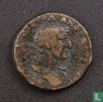 Romeinse Rijk, AE 19, 117-138 AD, Hadrianus, Tripolis, Phoenicia, syria, 117 AD