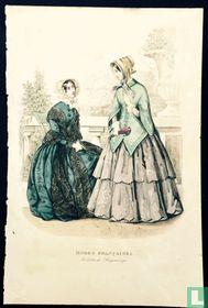 Toilettes de Longchamps, deux femmes à la terasse (1850-1853)