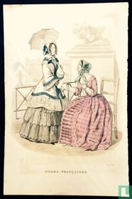 Deux femmes à la terasse serrant la main - Juin 1849