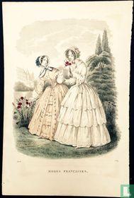Deux femmes au jardin - Août 1849