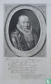 Petrus Plancius, theologus et mathematicus insignis. S.S. ministerio functus, primum clam sub cruce in Flandria locis variis post publice Bruxellis An. VI postremum Amstelr. An XXXVII.