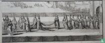 De lijkstatie van Maria II Stuart, koningin van Engeland