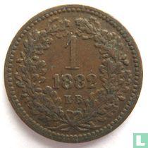 Hongarije 1 krajczar 1882