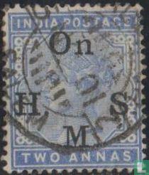 Queen Victoria mit großem Aufdruck On H.M.S.