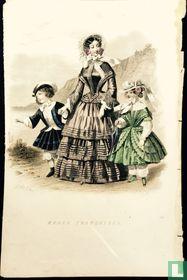 Une femme et deux enfants à la mer (1849-1853)- 341