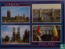 London:Houses of Parliament, Tower Bridge, Westminster Abbey, Guards