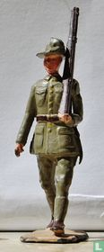 Soldier New Zealand Infantry, marching at the slope