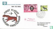 Eerste vlucht Nairobi-Amsterdam