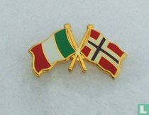 Vlaggen: Italië-Noorwegen